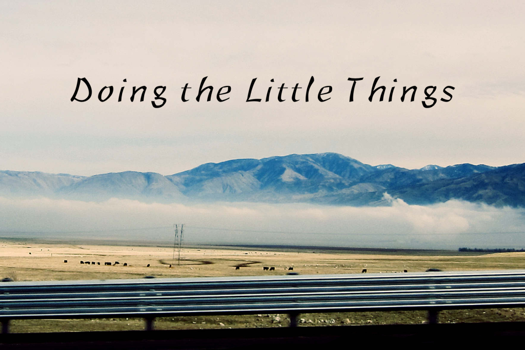 Doing The Little Things